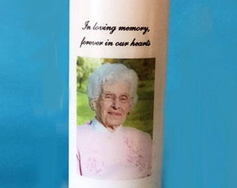 Memorial Candle with Photograph