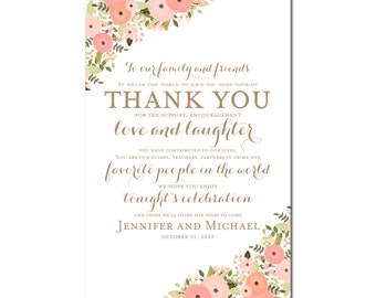 Printable Thank You Wedding Sign Thank You Sign Printable Thank You Sign Reception Sign Ceremony Sign Thank You Wedding Poster #CL171