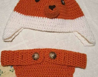 Fox Hat and Diaper Cover