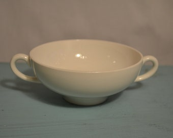 Vintage Ironstone - Wedgwood of Etruria & Barlaston - White Double Handled Bowl - Elegant Bowl Perfect for Candy Nuts or as a Jewelry Dish