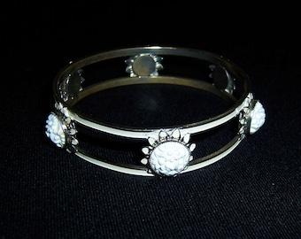 Vintage enamel bracelet, enamel bracelet, celluloid bracelet