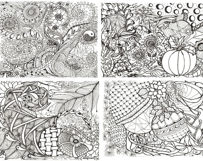 Printable Calendar Coloring Pages, Adult coloring pages, Zen doodles to color
