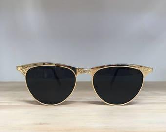Vintage sunglasses gold detailed