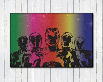 "Power Rangers 11x17"" Print, Mighty Morphin Power Rangers, 90s Nostalgia, Super Hero Movies, Action Movies, MMPR, Space Print, Scifi Movies"