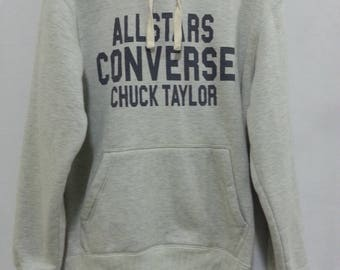 Rare!! All Star Converse Chuck Taylor Sweatshirt Sweater Hooded Jumper Pullover M Size
