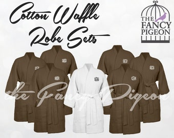 CHOCOLATE COTTON ROBES - Bridesmaid Robe - Bridesmaids Robes - Bride Robe - Spa Robes - Robes for Bridesmaids - Getting Ready Robe - Kimono