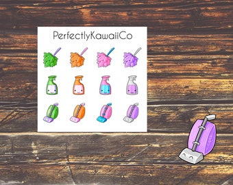 KCD06 Kawaii Cleaning Supply Sticker