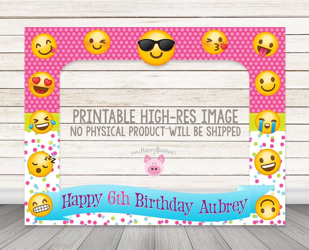 PRINTABLE Emoji birthday party photo booth frame 32 x