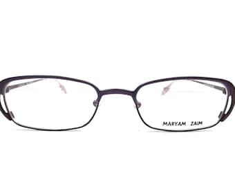 vintage. 90s. glasses. purple. violet. metal. modern. eye glasses. french. france. mens. womens. rectangular glasses.