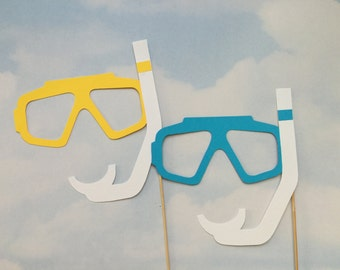 Snorkel  Photo Booth Prop Photobooth Props Set of 2
