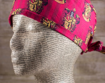 Mens Scrub Cap - Harry Potter Gryffindor House
