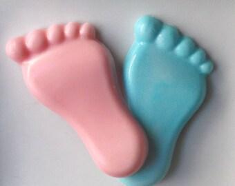 Gender Reveal Party - Feet Baby Shower Favors, Gender Reveal Favors, Boy Baby Shower, Girl Baby Shower, Gender Reveal Ideas - Set of 10