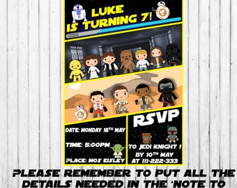 Star Wars Inspired Party Invite - Birthday & Other Party Supplies - Party Printable Decor - Instant Download! A New Hope - The Force Awakens