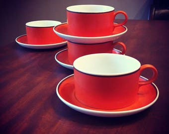 Kreglinger coffee/tea cups in orange