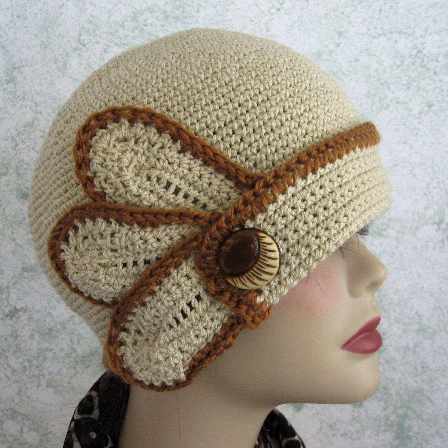 Excepcional Crochet Cloche Hat Patterns Free Modelo - Manta de Tejer ...