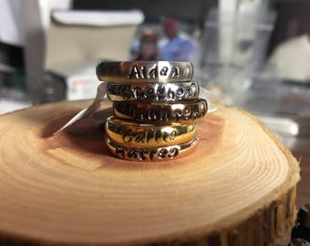 Personalized stackable rings
