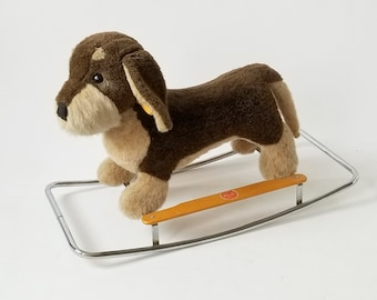Vintage made in ITALY 1970 rocking dog