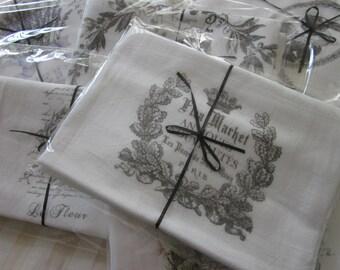 FLEA Market ANTIQUES Paris ~ Flour Sack Kitchen Towel Dish Towel GIFT Kitchen Decor