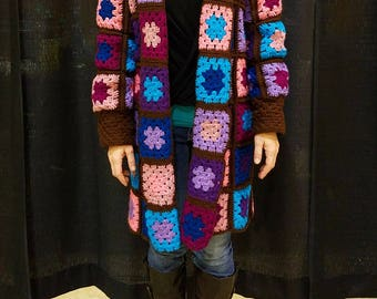 Hooded Granny Square Jacket Pattern