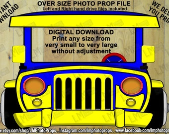 Jeepney, Dyipni, INSTANT DOWNLOAD, digital download, Philippines, Public Transport, Jeeps, Theme Party, Printable Photo Prop, Photo Booth
