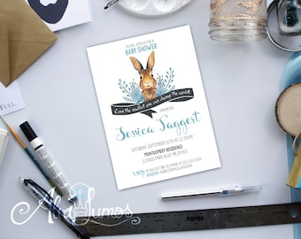 Peter Rabbit invitations - Peter Rabbit Baby shower - Peter Rabbit Shower - Baby shower invite - Peter Rabbit Theme - Peter Rabbit Invite