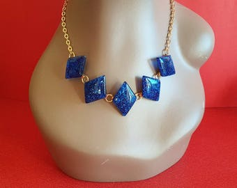 Justine Diamond necklace - Royal Blue
