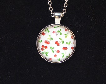 Retro Inspired Rockabilly Cherry Necklace