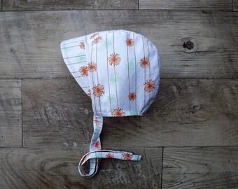 Baby bonnet/ cotton sunbonnet/baby sun hat/ sun bonnet / toddler sun hat /summer baby bonnet with brim/summer baby hat/ bonnet/brimmed  hat