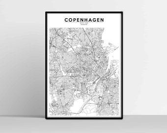 Copenhagen Map with GPS Coordinates Copenhagen City Map