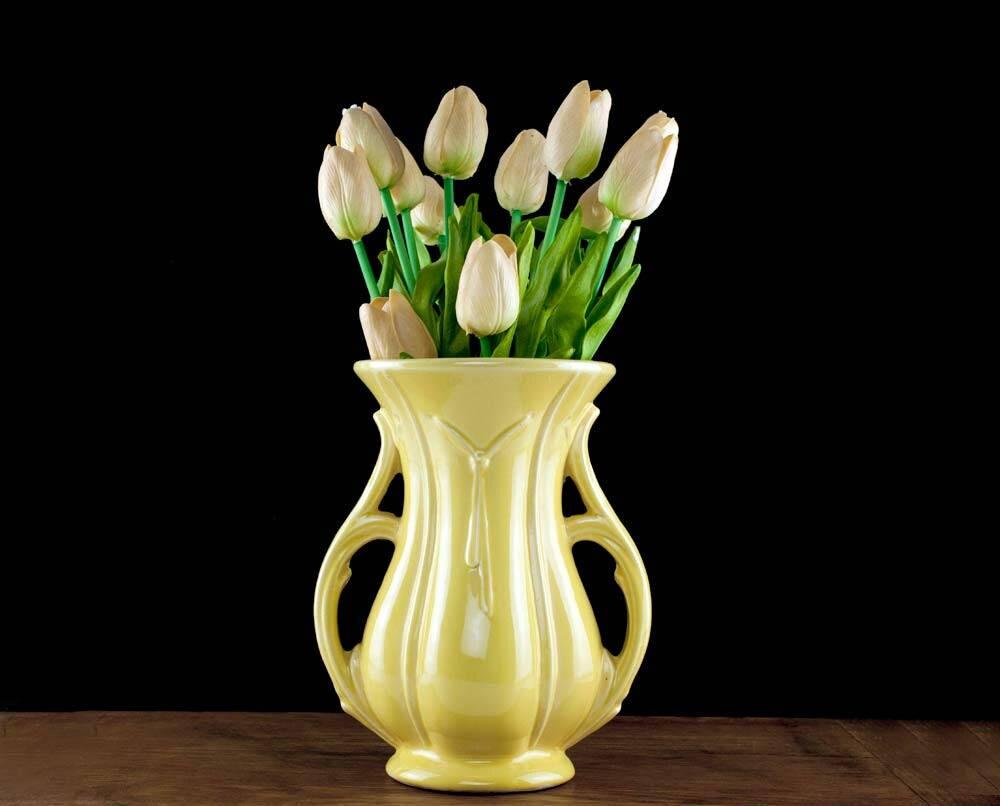 Vintage yellow double handle mccoy vase mccoy pottery mccoy zoom reviewsmspy