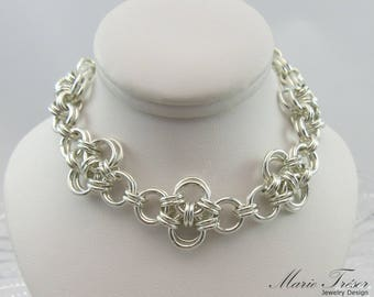 Criss-Cross chainmaille bracelet