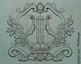 """Harp Stencil -12.62"""" wide x 11"""" high"""