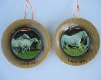 Lipica Horse Plaques (set of 2)