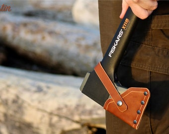 Leather Axe Sheath for Fiskars X-Series (for X7, X11, X15, X17, X25, X27 and the 8lb Maul)