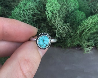 Sterling Silver Number 8 Turquoise Ring, Number 8 Turquoise, Turquoise Ring, Sterling Silver Ring, Stacking Ring, Stackable Ring