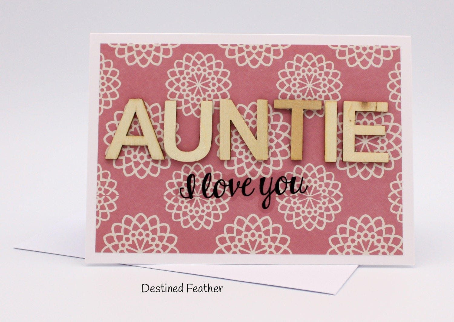 Customised aunt card personalised auntie card birthday card zoom kristyandbryce Choice Image
