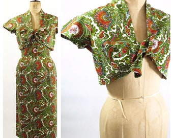 French 1950s Dress And Jacket Set