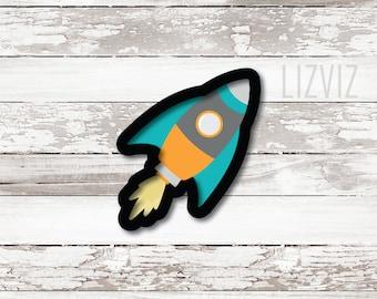 Rocket Ship Cookie Cutter.
