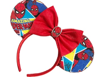 Spiderman Mouse Ears | Comic Book Mouse Ears  |  Spiderman Ears | Geek Mouse Ears | Mouse Ears