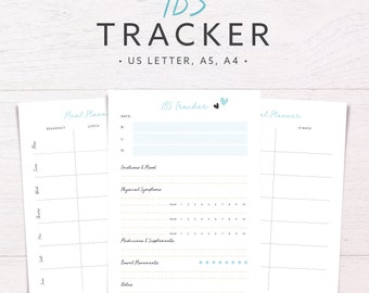 ibs tracker food diary allergy diet tracker meal planner daily health planner symptom tracker a5 a4 letter printable inserts