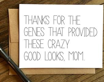 Lustige Muttertagskarte - Mütter Tag Karte - Muttertag-Karte - Karte für Mama - vielen Dank für die Gene.