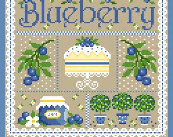 Blueberry Sampler Cross Stitch Chart PDF