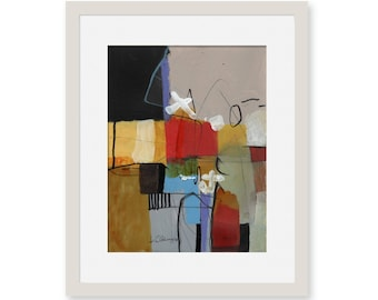 Acrylic paintings for affordable price | Wall abstract paintings | Abstract paintings on paper |no Print | Modern abstract paintigs on paper