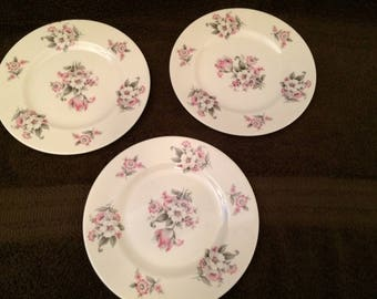 3 Aberdeen China small plates - vintage