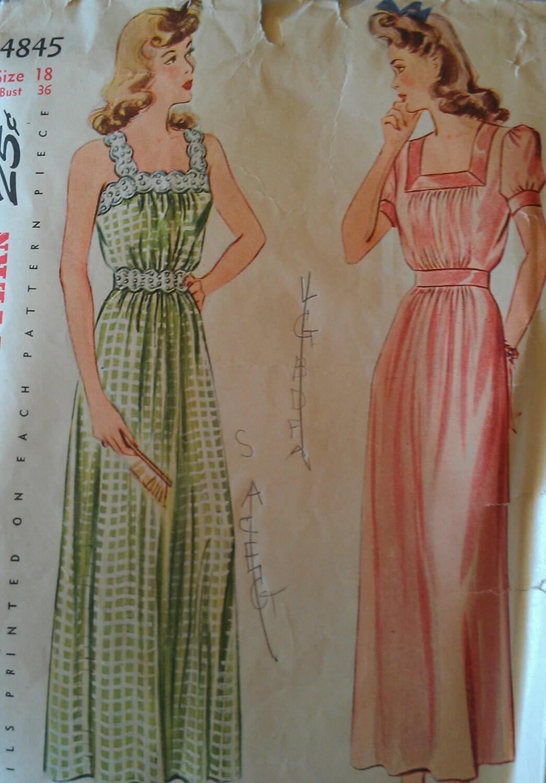 Vintage 40er Jahre gesammelten Mieder Square Hals Lace Trim Puff ...