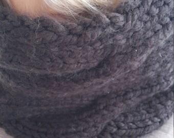 Mixed Brown scarf collar Snood