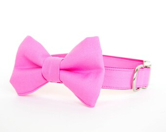 Bowtie Dog Collar - Real Men Wear Pink