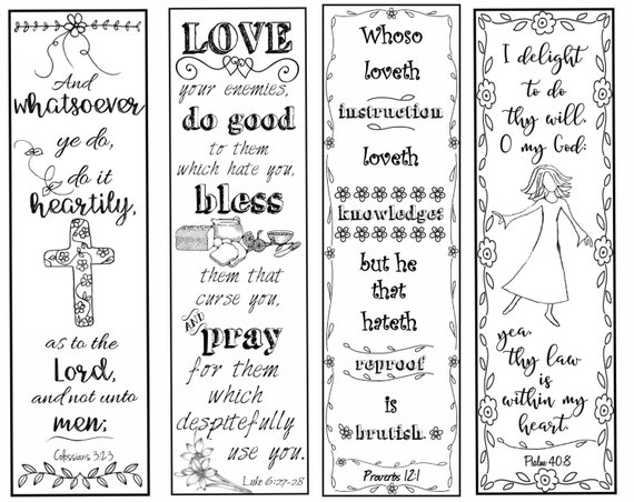 Bible Verse Bookmarks on the Christian
