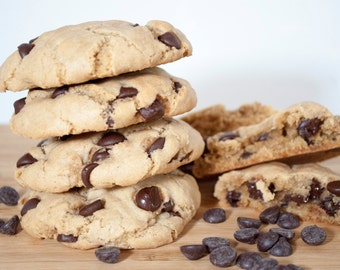 Chocolate chip, Vegan Cookies, Vegan Chocolate chip, Gift, Gluten Free option