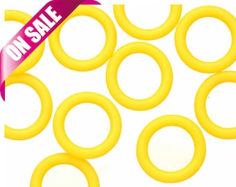 25Pcs yellow O-Ring for Licorice Leather 2x12mm